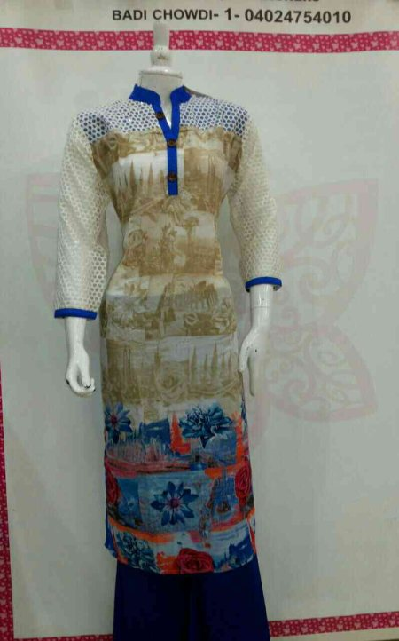 KURTI ( LONG REYON PRINTED PATTEN ) L & XL & XXL & 4XL MRP =1450/ - ONWARDS - by Kaira, Hyderabad