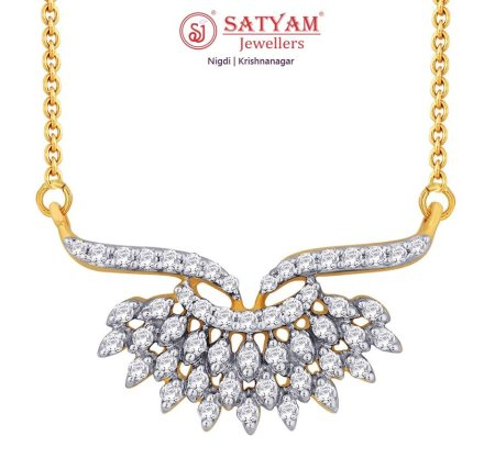 Let some be mesmerized and others be jealous!  This exquisite diamond pendant has it all to stand you apart from the crowd  #SatyamJewellers #Nigdi #Diamond - by Satyam Jewellers, Pune