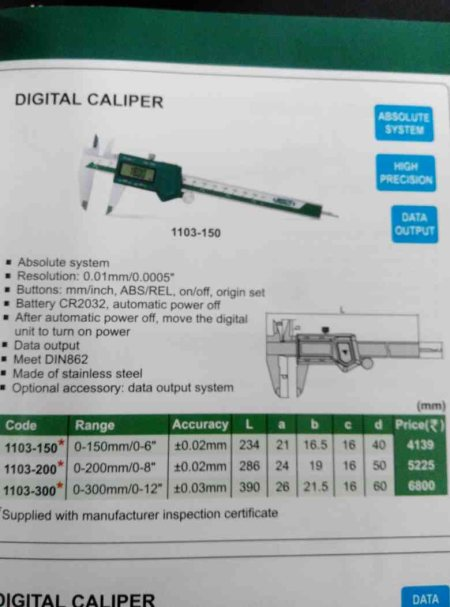We are the best Digital Vernier Calipers Dealers In Chennai  - by Creative  Metrology, Chennai
