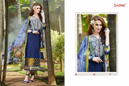 Cotton embroidered suit Heavy party wear Semi stitched  Chiffon dupatta  1900 ₹ - by Be Fashionable Boutique, Mumbai