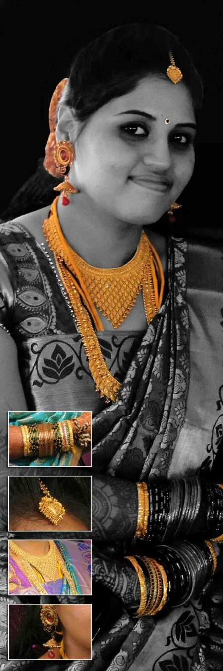 Stunningly beautiful with the ornaments.just  shot after  the muhurtham.look's like a jewelery ad.  - by Drishti photography & videography, coxtown
