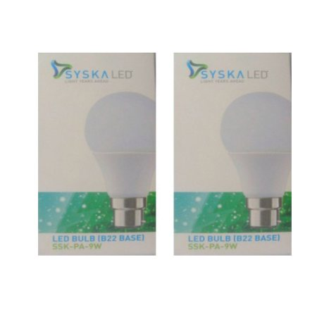 Special Price of Syska Pa 9w led Bulb pack of 2 @ 800, Best price of Syska 9w Led bulb pack of 2 @ 800 - by SAS BUSINESS, Delhi