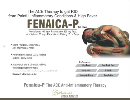 Fenaica-P The ACE Anti=Inflammatory Therapy - by Spica Lab, Ahmedabad