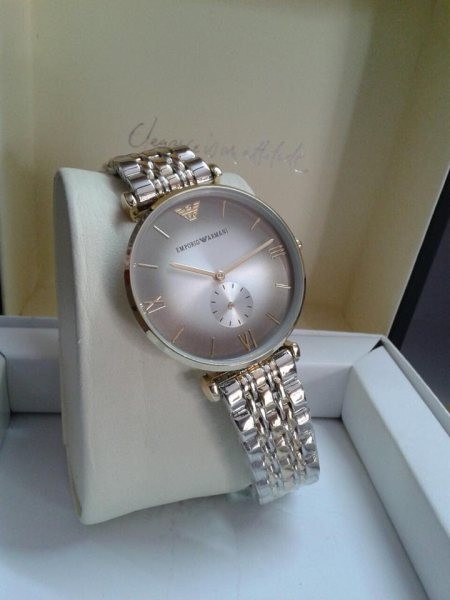 1st Quality of Emporio Armani  ⌚⌚WATCH FOR HER⌚⌚ Beautiful watch for beautiful ladies ⌚⌚ White Round Dial Chronos Work COD all over India  Premium Quality - by Shradha Collections, Delhi