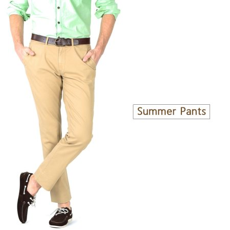 Stay cool and stylish below the waist this season with our summer pants. Available at your nearest Basics store.  - by BASICS LIFE - LANDMARK FAMILY WEAR , Kakinada