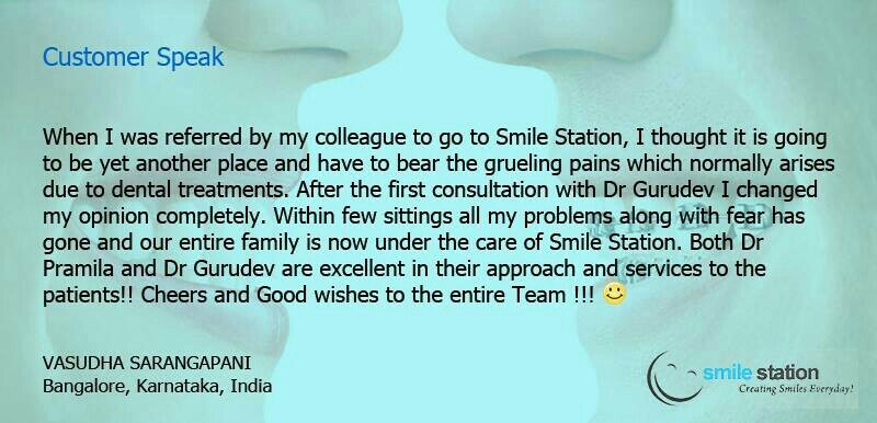 Established in the year 2007, we stand tall on a strong loyal client base of over 4000 clients till date with an average of over 500 new clients every year of which more than 60% of them are referred by our existing clients. - by SMILE STATION, Bangalore
