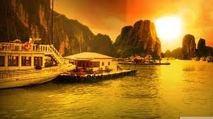 Find the Amazing facts about HALONG BAY VIETNAM  Halong Bay literaly means 'descending dragon bay'. Legends of HALONG BAY states that god send dragons, who dropped jewels and jade from their mouths into the bay, creating these islands. Many - by The Real Facts, Noida