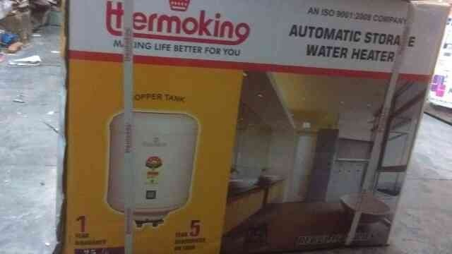 thermoking water heater WITH copper tank comes with 5 years warranty on tank 25 liters Mrp 5765 our rate 4999