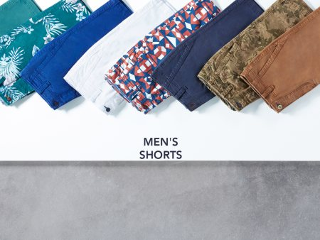 Cool off with a smart pair of solid or printed men's shorts this season.  Available at your nearest Basics store.  - by BASICS LIFE - LANDMARK FAMILY WEAR , Kakinada