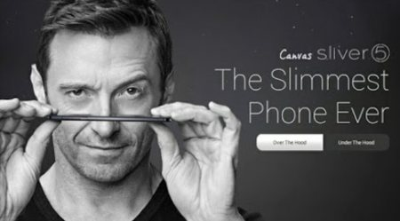 Canvas Silver 5. The slimmest phone. The lightest phone. Ever. - by Saroj Watch & Opticians, Alwar