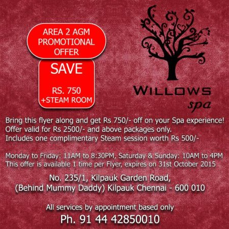 Willows spa: our best selling massage is the Balinese massage.  - by Willows Spa, Chennai