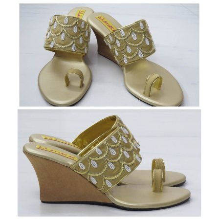 GOLD PEARL DROP WEDGES TO MATCH ALL YOUR GORGEOUS OUTFITS. WEDDING COLLECTION 2015.