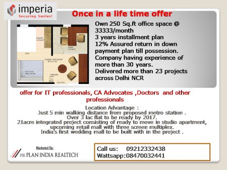 pay monthly stay tension free  - by Plan India Realtech - Best Property Dealer in Ghaziabad, Ghaziabad