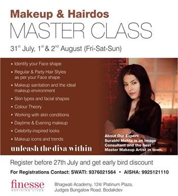 Highlight on courses Offered.   Identifying the shape of your face. -Incorporating Regular & Party Hair Styles as per the shape your face. -Makeup Sanitation and highlighting the ideal makeup environment. -Skin Types. -Colour Theory. -Worki - by FINESSE, Ahmedabad