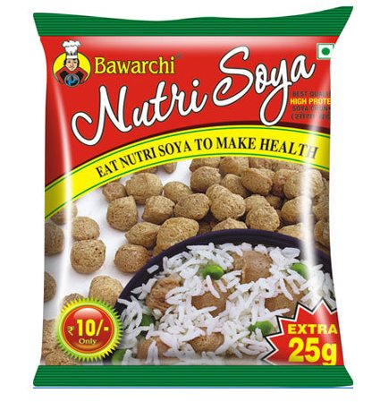 Product Name :Bawarchi Soya Chunks Product Description : We are well-established name in the industry, engaged in manufacturing and supplying optimum quality Nutrela Chunks. Widely used in many dishes due to its optimum nutritional value, these soya chunks are hygienically processed using excellent quality ingredients and advanced methodologies at par with industry quality standards. These chunks also checked on diverse quality parameters to assure their quality. Moreover, these Nutrela Chunks are offered in hygiene packaging material at most affordable price. Features: High nutritional value Freshness Mouth watering taste Purity