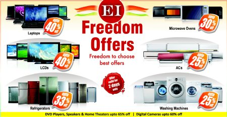 We are one of the best electronic goods in hyderabad. On the occasion of our 69th independence day, Grab some amazing deals on Samsung, Micromax & Philips Products (upto 69% off on selected range.)  So what are you waiting for? Come and tak - by Superb Electronics India, Hyderabad