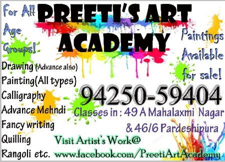 Join today! Learn lots of new stuff.  - by Preeti Art Academy, Indore