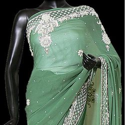 Embroidered-sarees - by Dakshinam Sarees, Kanpur