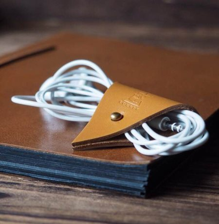 Leather Cord Organizer #Light Brown http://www.es-corner.com/#!cord-organizer/c1ipu - by ES Corner, Hong Kong