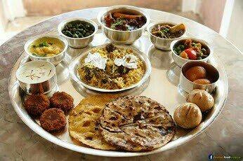 veg thali  - by Aziz & Sabir caterers, Mumbai