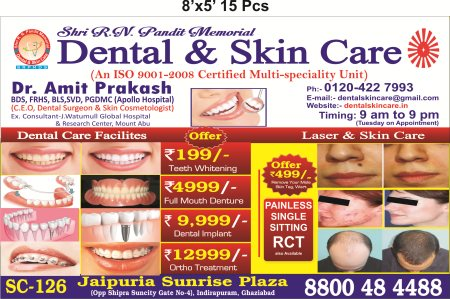 Offer for the Day, Book your appointment today. - by Shri R.N Pandit Memorial Dental  &  Skin Care, Ghaziabad