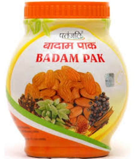Badam Pak-              It is a nourishing tonic.This rasayan makes the mind healthy, preventing all types of mental weaknesses, bile related problems, eye diseases etc. This is a miraculous medicine for headache. This medicine provides str - by Patanjali Ayurved, Chennai