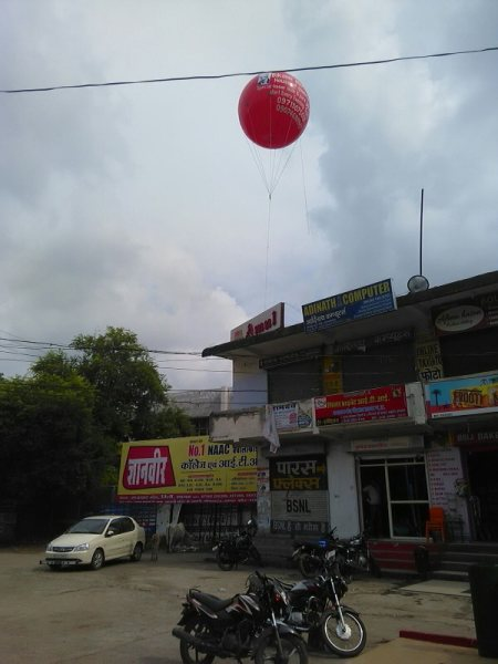 Advertising sky balloon for builders infrastructure and events also  Ganesh Sky Balloon - we are the manufacturer of advertising sky balloon and gas balloon - by Ganesh Sky Balloon, D-1/164 aman vihar sultan puri