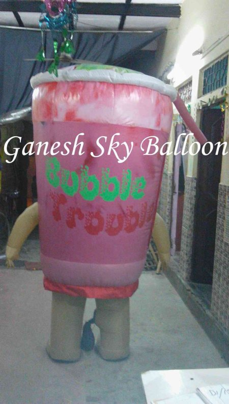 product shape advertisement air walking inflatable  Ganesh Sky Balloon - manufacturer of advertising walking inflatable