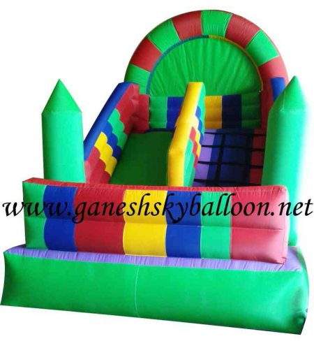 Cold air inflatable kids bouncer for fairs, party and events  Ganesh Sky Balloon - Ganesh sky balloon is the manufacturer of Inflatable slide Bouncy