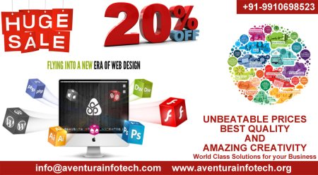 Get Your Business Website At Unbeatable Prices With 20% OFF.. Aventura Infotech Pvt Ltd Contact Us:-  www.aventurainfotech.org - by Aventura Infotech Private Limited, Delhi