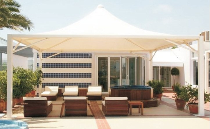 Tensile Manufacturer in Delhi  Tensile Structures are used for various purposes like in Hotels, Restaurants, Terrace Top etc. We are renowned Manufacturer of Tensile Structures. - by Shri Ram Awning, Delhi
