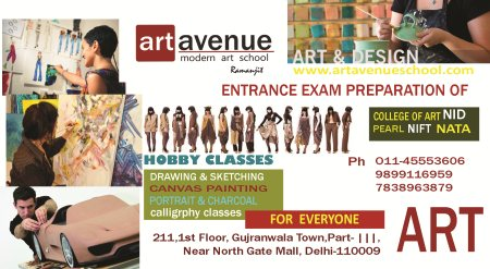 "NIFT, NID Entrance exam preparation in Delhi  Diploma in Fashion Designing  Join today for Diploma ""One right decision, infinite possibilities "" - by ART AVENUE SCHOOL-7838963879, Delhi"