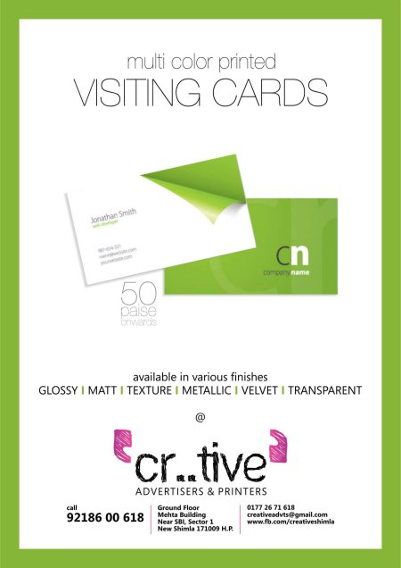 multi color visiting cards now available in texture, metallic, transparent sheets