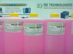 Using original SD Technologies consumables guarantees optimum performance. Using non-original consumables may even invalidate the warranty of your alphaJET. Additional advantages by using original KBA-Metronic ink & solvent. Easy topping up of consumables during operation complete emptying of ink tanks possible. Favorable purchase price extremely low consumption thanks to solvent recovery system.