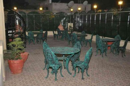 Night View of Our Open Roof Top Restaurant - by HOTEL MUHHAMADI PALACE, Jaipur