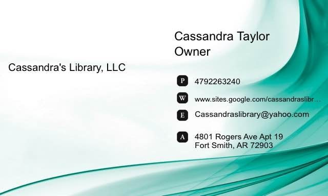 My business card - by Cassandra's Library,LLC, Sebastian County