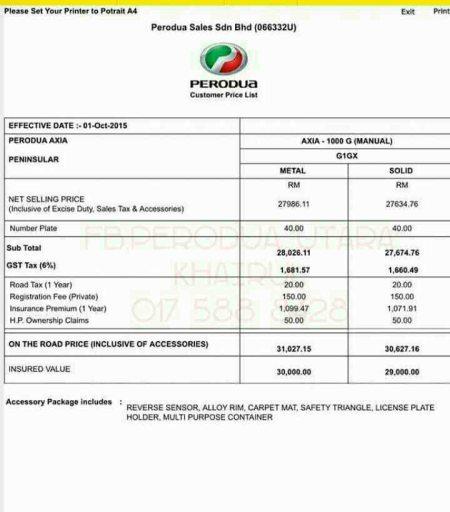 Harga terkini Perodua AXIA G SPEC (MANUAL)  maklumat lanjut boleh hubungi Jurujual Sah Perodua anda ...  khairul 017 588 8428 - by Perodua Utara, alor setar