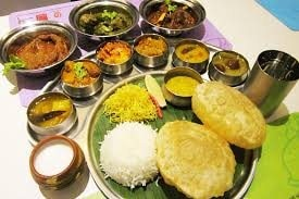 Special thali for special Days. Happy Puja