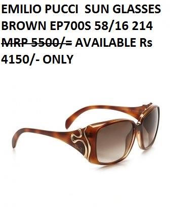 EMILIO PUCCI SUNGLASSES - by Bajaj Opticals, Delhi