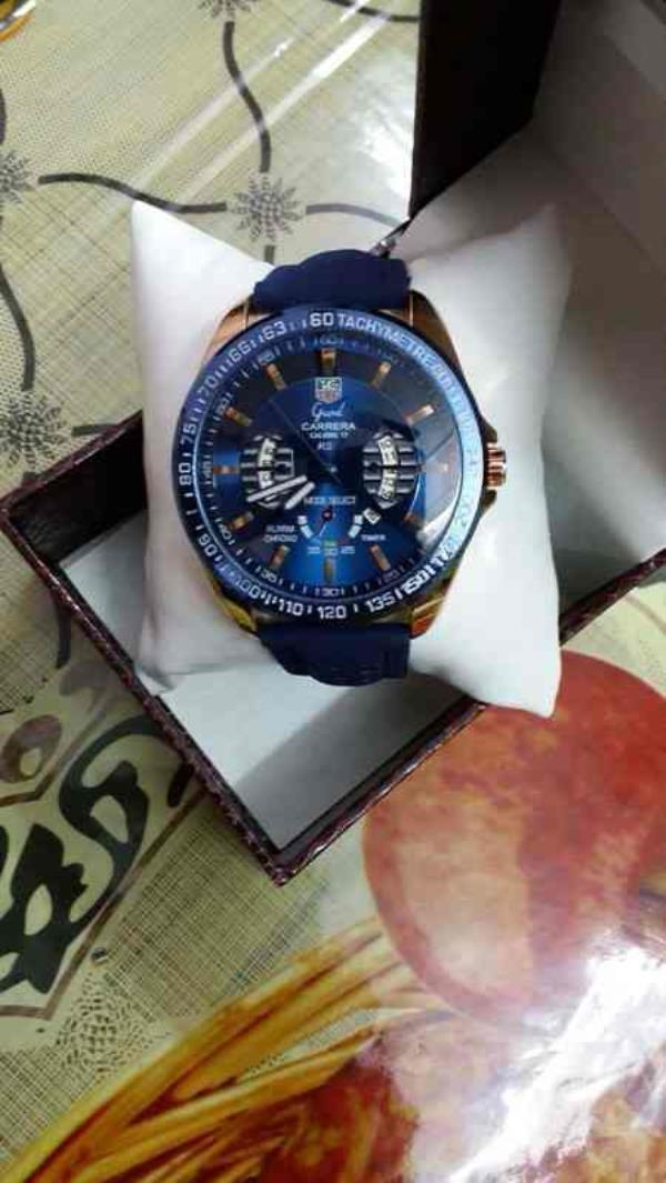Blue tone Carrera Tag heuer watch for boys  contact for price:- +91-9654571571 - by Classic Eyewear, Delhi