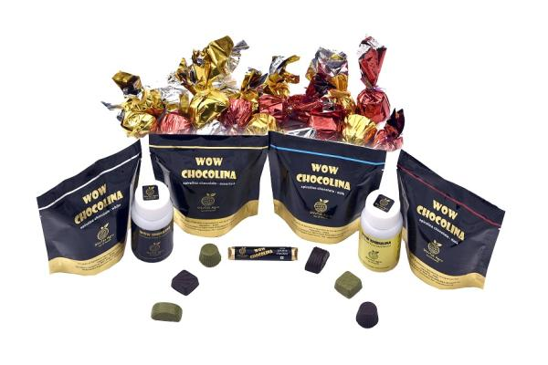Offer multiple variants of premium chocolates blended with Super Food Spirulina to help you! Milk, White, Assorted & Dark Chocolates to choose from. - by WOW CHOCOLINA, Bangalore