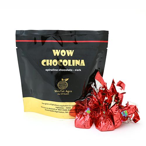 For the picky healthy taste buds, we offer you Dark Chocolate Blended With Spirulina...