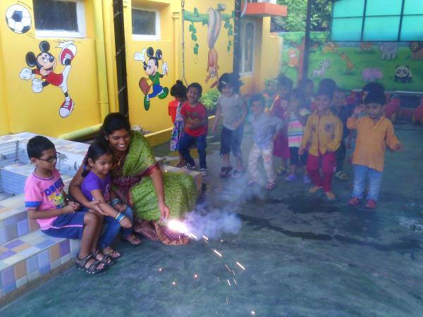 Thanks my dear Schweet Teachers for making my Diwali Day so Lighten. Trust this festival brings the positive energies to our lives. - by Smartkidz Play School, Visakhapatnam