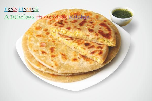 Corn Paratha  Corn Paratha with Dhaniya Chatani in our kitchen for you EveryDay.  Helathy and Hygenic food for your health.  Order Online food to deliver Parathas from Our Kitchen.