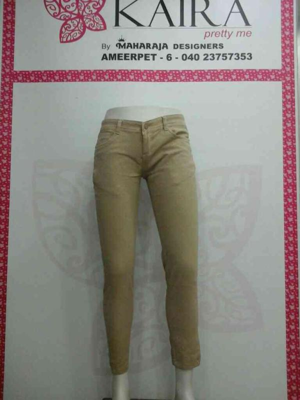 self printed jeans  sizes available 28 to 38  mrp 980. - by KAIRA,AMEERPET, Hyderabad