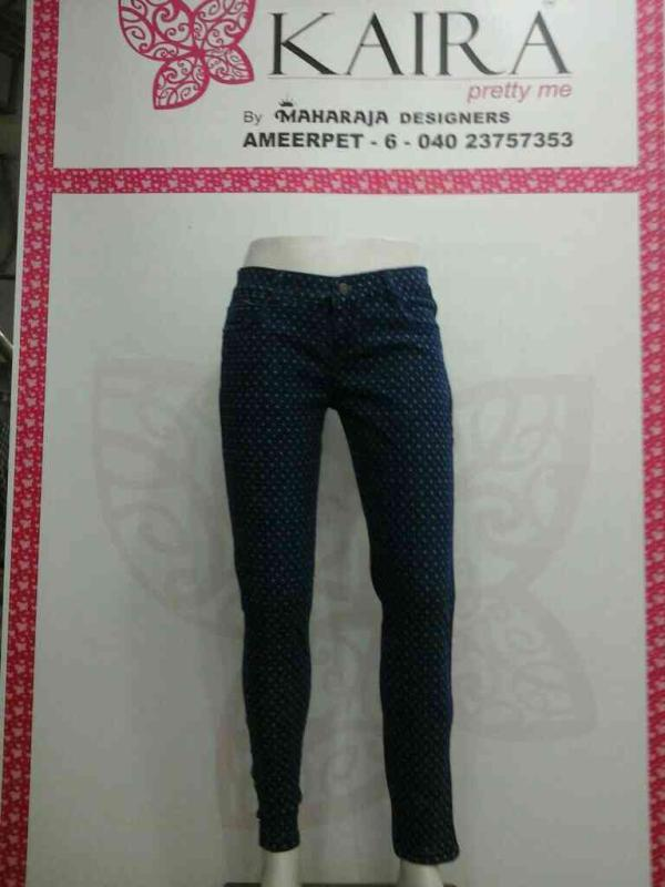 Printed jeans  sizes available 28 to 38  mrp 860 - by KAIRA,AMEERPET, Hyderabad