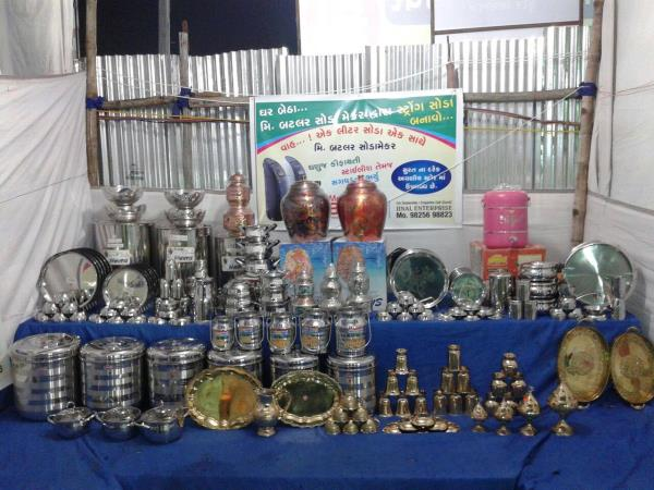 Krishna Steel And Crockery  Our Display in Fair.