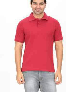 Plain Collar T Shirts Polo Tee Shirt   - by Indianenginer, Tiruppur
