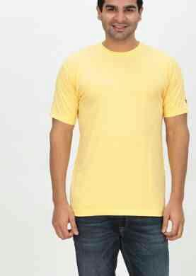 Plain Round Neck Branded T Shirt - by Indianenginer, Tiruppur