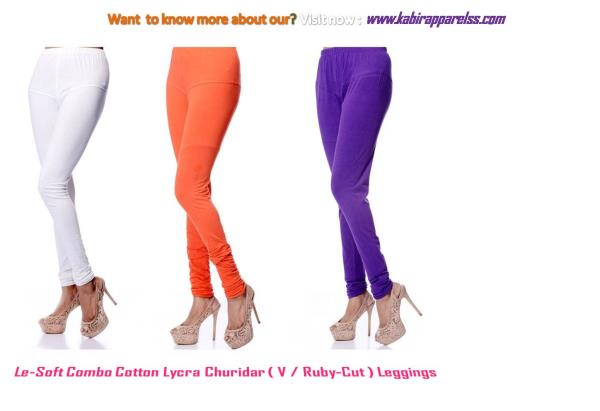 Le-Soft Churidaar leggings are made from Soft & fine cotton (50 Count) fabric with lycra , designed to provide absolute comfort and a perfect fit giving appearance of Beautiful legs-pair it with a short or long kurti / anarkali for the perfect look . extra panel stitch is provided for better stretch and fitting for almost all adult body sizes. Best quality sewing thread is used for adjustment of stretch .